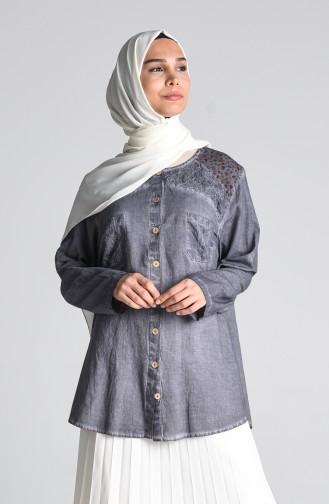 Grau Hemd 1313-08