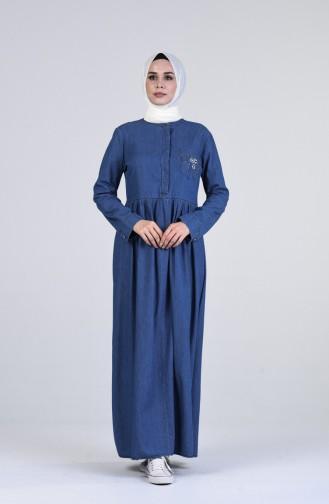 Robe Hijab Bleu Jean 5003-01