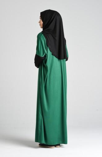 Robe de Prière Vert emeraude 0910B-04