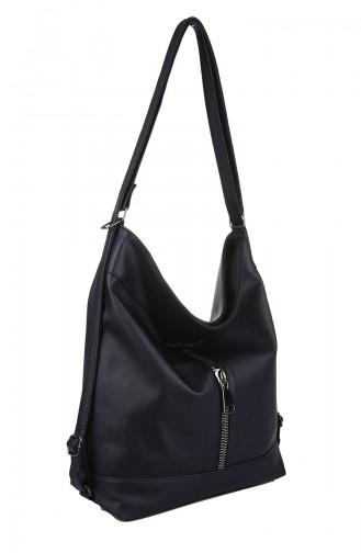 Navy Blue Shoulder Bag 403-011