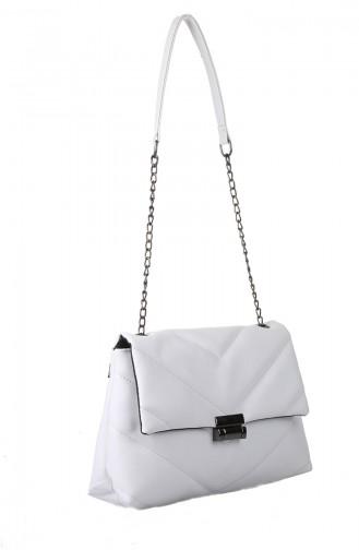 White Shoulder Bag 405-105