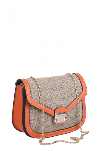 Orange Schultertasche 408-430