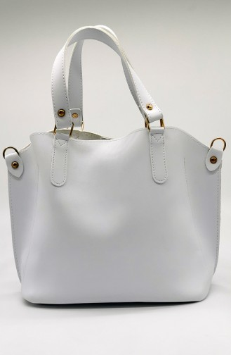 White Shoulder Bag 3546-09