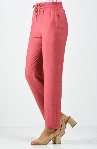 Pantalon Rose Pâle Foncé 0151A-03