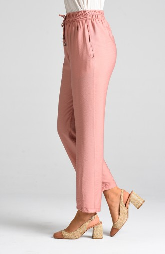 Aerobin Fabric Trousers with Pockets 0151a-04 Dry Rose 0151A-04