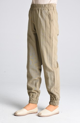 Pants with waist Elastic Pockets 3189-04 Mink 3189-04