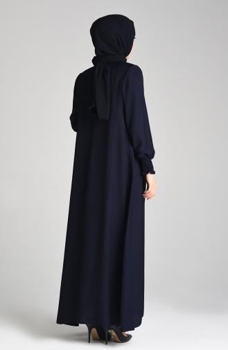 Dunkelblau Abayas 1021-01