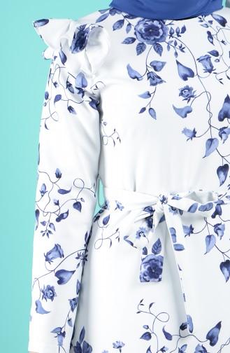 Weiß Hijap Kleider 3004-01