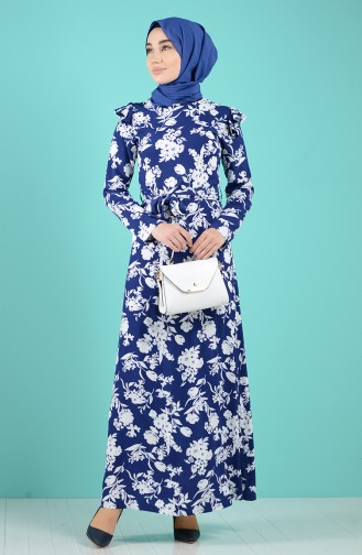 Robe Hijab Bleu Marine 3004C-01