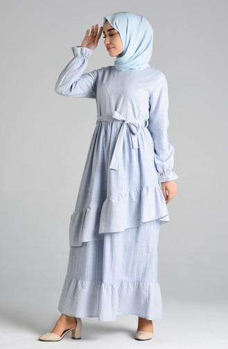 Blau Hijap Kleider 8072-03