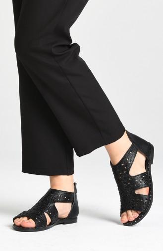 Black Summer Sandals 0001-03