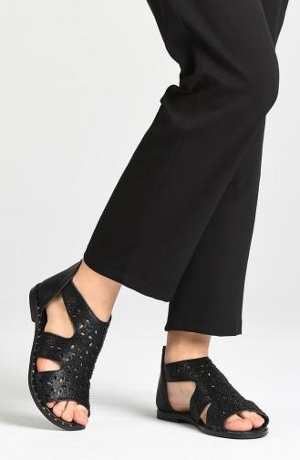 Sandales D`été Noir 0001-03