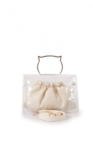 Beige Shoulder Bag 55Z-04