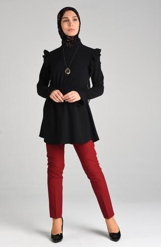 Claret red Pants 5005-01