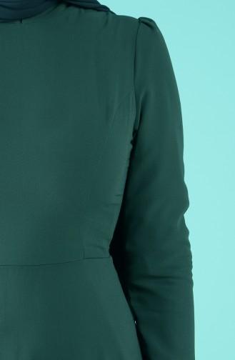 Robe Hijab Vert emeraude 5240-01