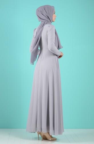 Robe Hijab Gris 5240-08