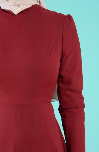 Robe Hijab Bordeaux Foncé 5240-12