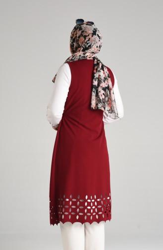 Claret red Gilet 0130-01