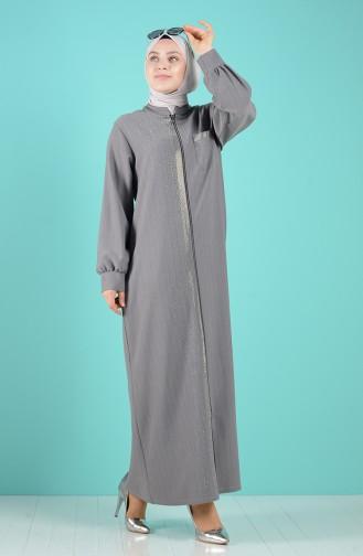 Dunkel-Grau Abayas 8373-01