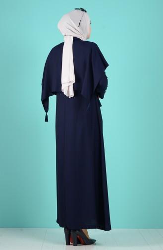 Dunkelblau Abayas 1040-02