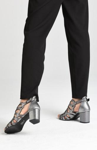 Chaussures a Talons Gris argenté 1360-03