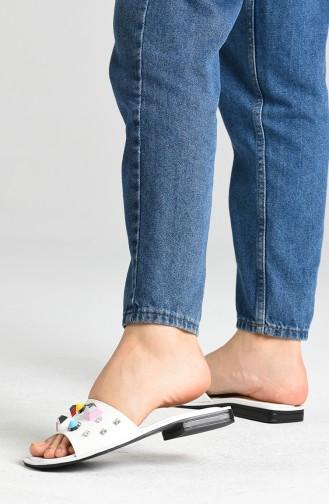 White Summer slippers 2602-02