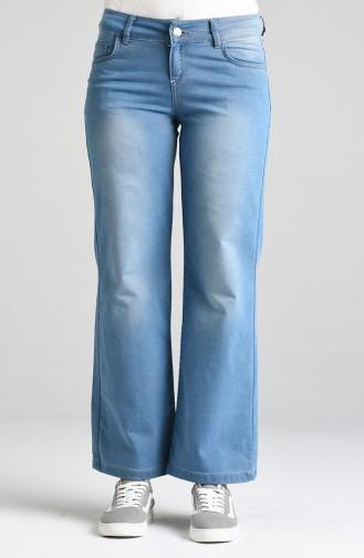 Bol Paça Kot Pantolon 5004-01 Kot Mavi