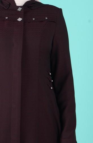 معطف فوقي أحمر كلاريت 1065A-03