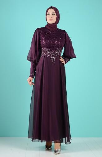 Zwetschge Hijab-Abendkleider 52776-01