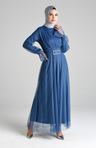 Habillé Hijab Indigo 4105-02
