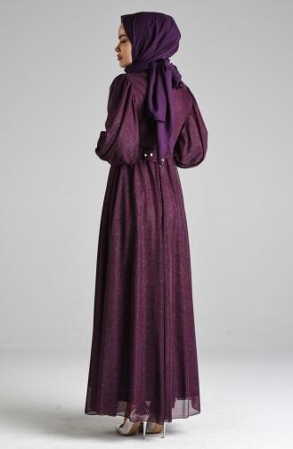 Zwetschge Hijab-Abendkleider 4212-01