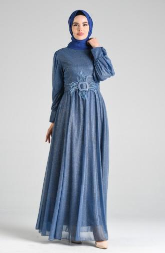 Habillé Hijab Indigo 4212-02