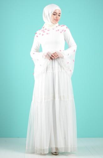Habillé Hijab Ecru 12001-01