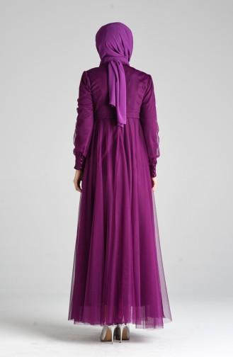 Lila Hijab-Abendkleider 12035-01
