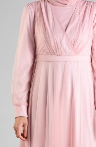 Tulle Evening Dress 12035-04 Powder 12035-04