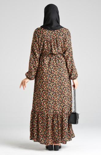 Floral Print Dress 20y3063800-05 Black 20Y3063800-05