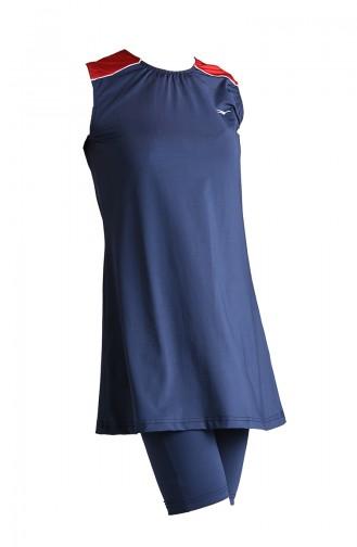 Dunkelblau Hijab Badeanzug 20101-02