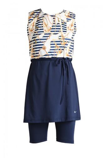 Navy Blue Swimsuit Hijab 20102-02