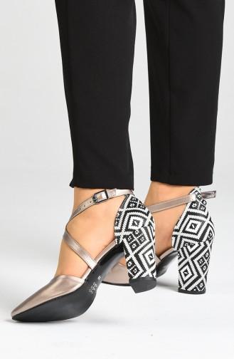 أحذية الكعب العالي زهري البشرة 1102-19