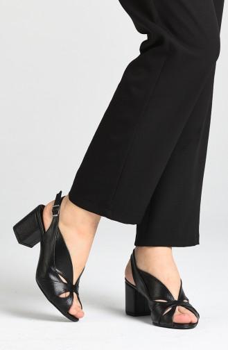 Bayan Topuklu Ayakkabı 9053-01 Siyah Rolaks