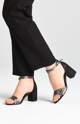 أحذية الكعب العالي أسود 9111-01