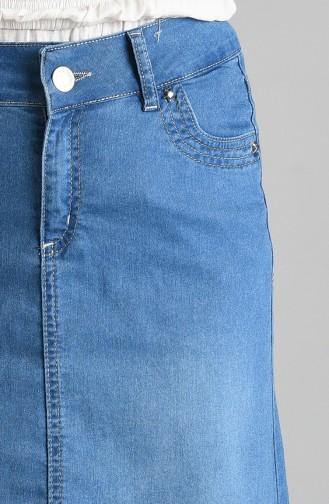 تنورة أزرق جينز 2108-01