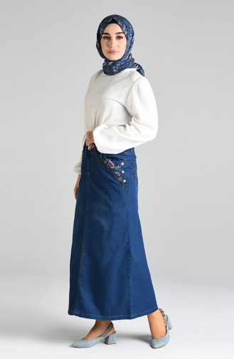 Navy Blue Skirt 2168-02