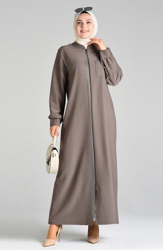 Dark mink Abaya 8373-03