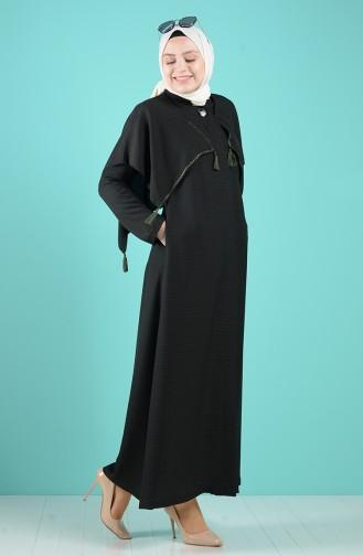 Dunkelgrün Abayas 1040-01