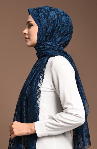 شال أزرق زيتي 4711-06