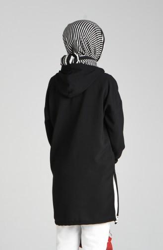 Kapüşonlu Tunik 8026-05 Siyah