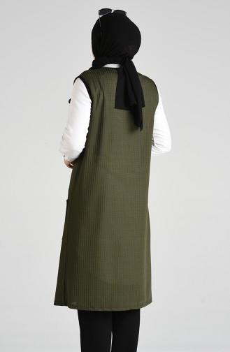 Gilet Sans Manches Khaki 1504-03