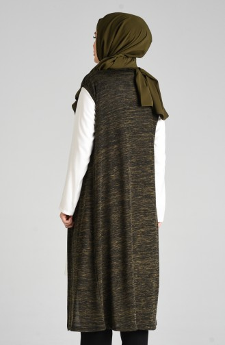 Gilet Sans Manches Khaki 7818C-01