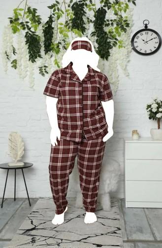 Weinrot Pyjama 5710-6